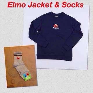 BN Elmo Pullover & Socks