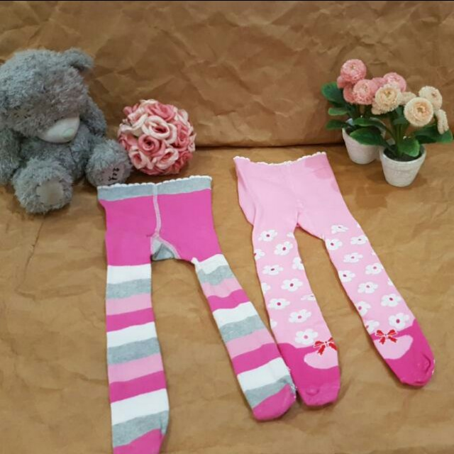 2 sets Flower Baby Legging size 0-3mos