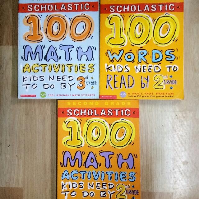 3 Scolastic Workbooks (SET)