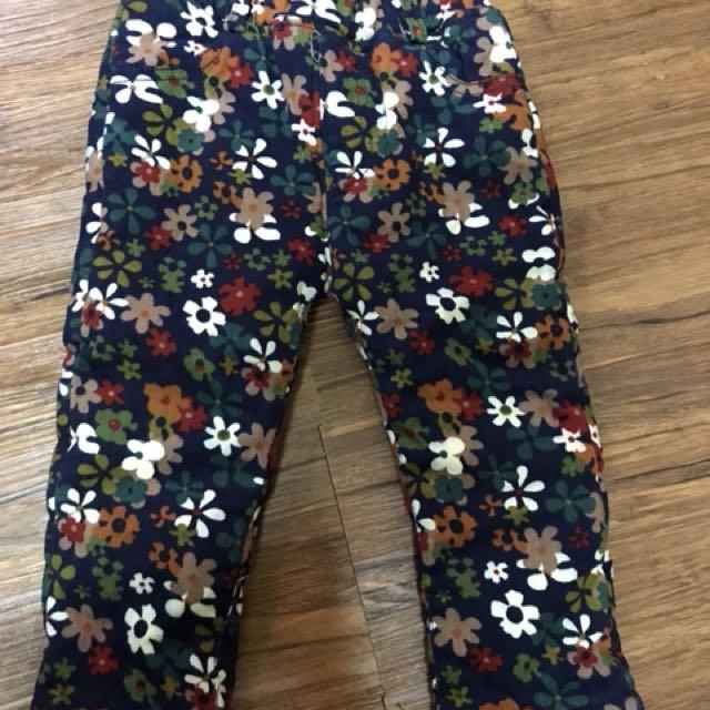 鋪棉小花褲80cm