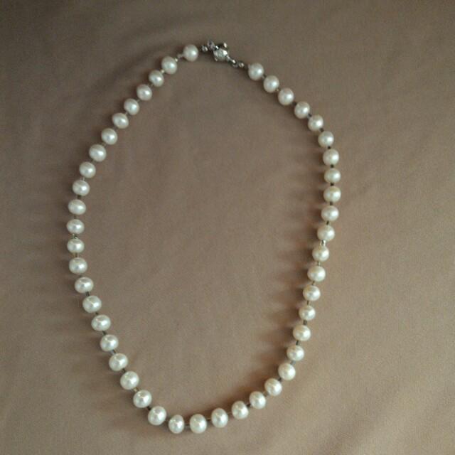 天然珍珠項鍊