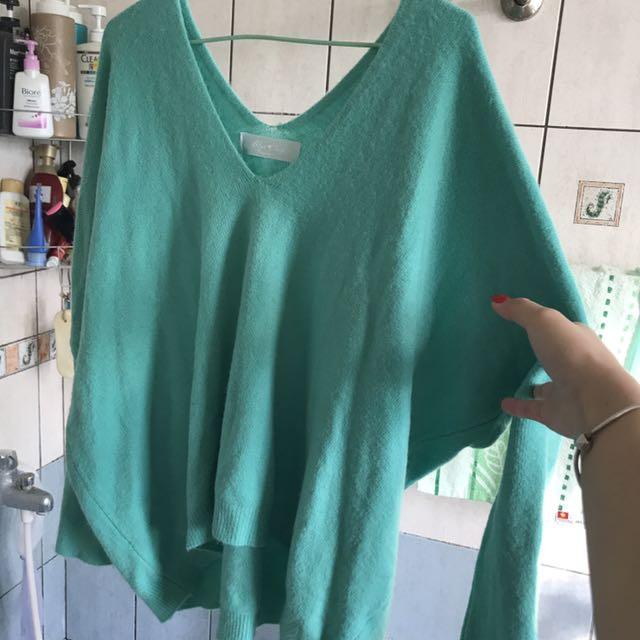 湖水綠毛衣