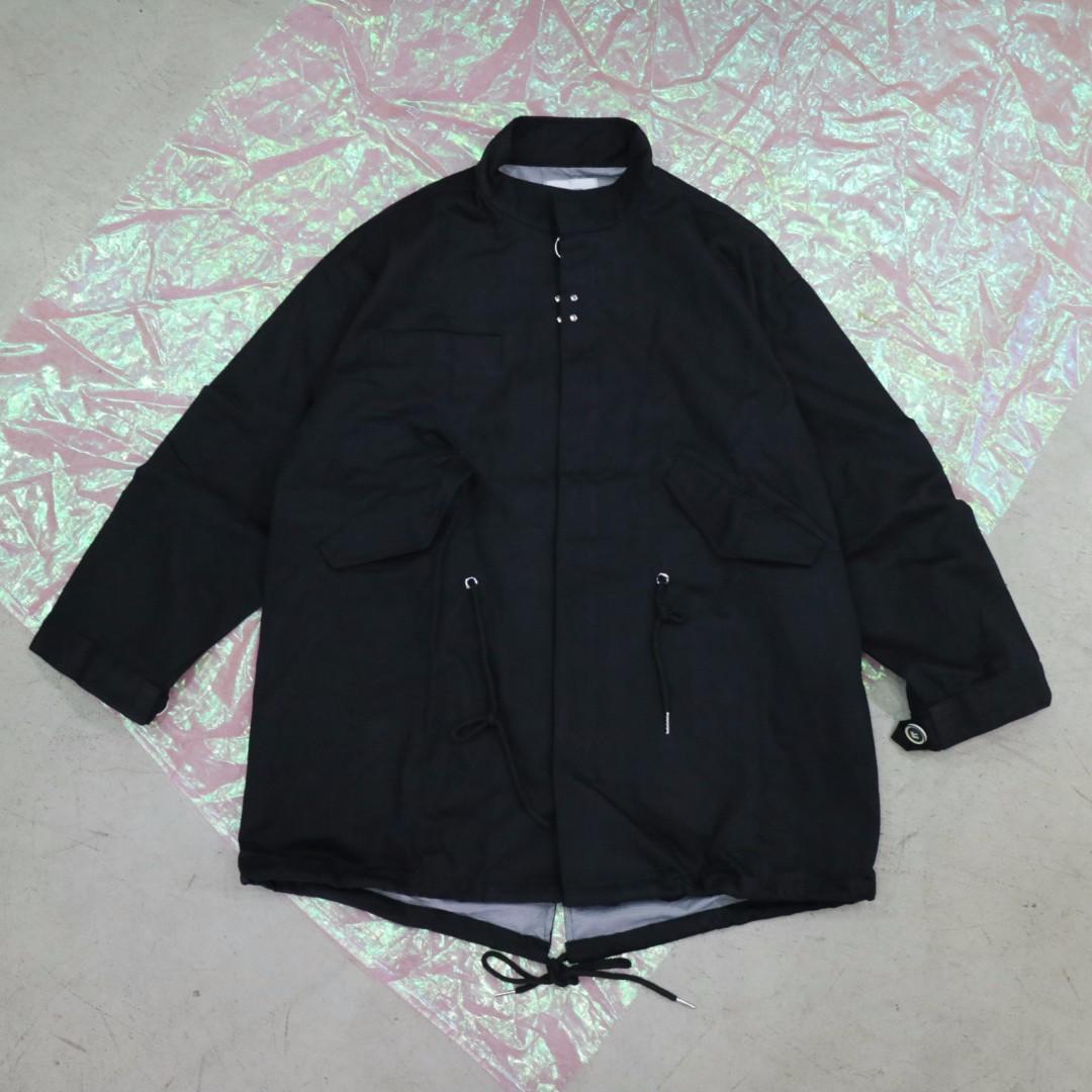 軍風造型風衣中性外套