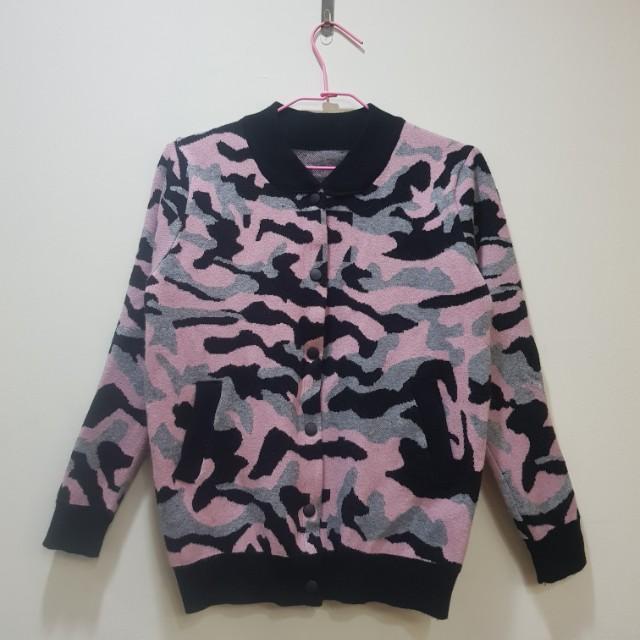 全新迷彩針織外套#我的女裝可超取