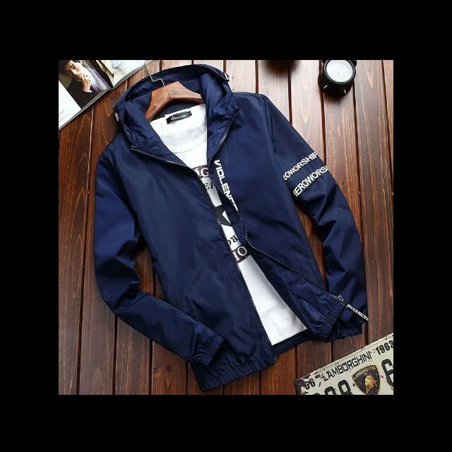 深藍色全新夾克外套