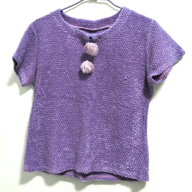 #好物任你換 紫色針織外搭上衣 可換物