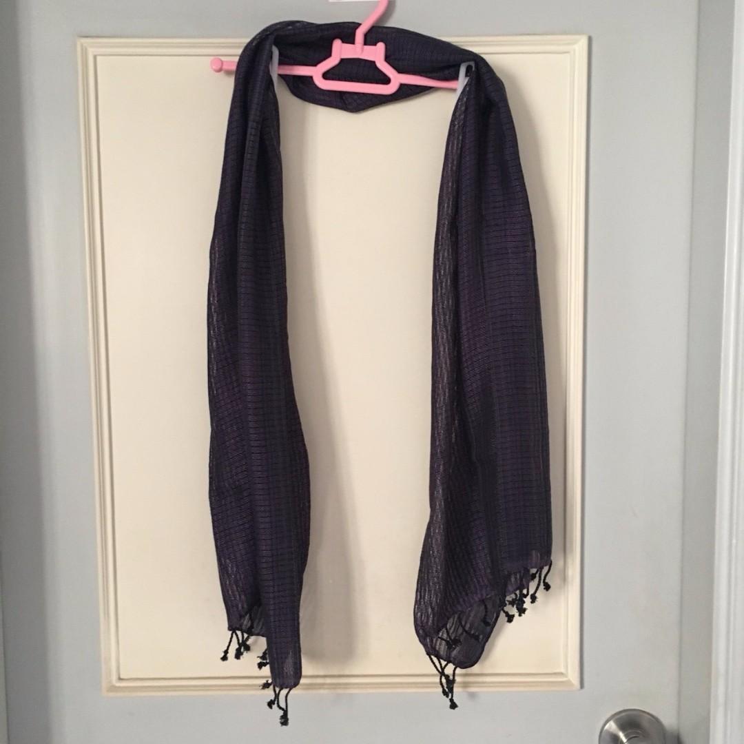全新 紫色圍巾