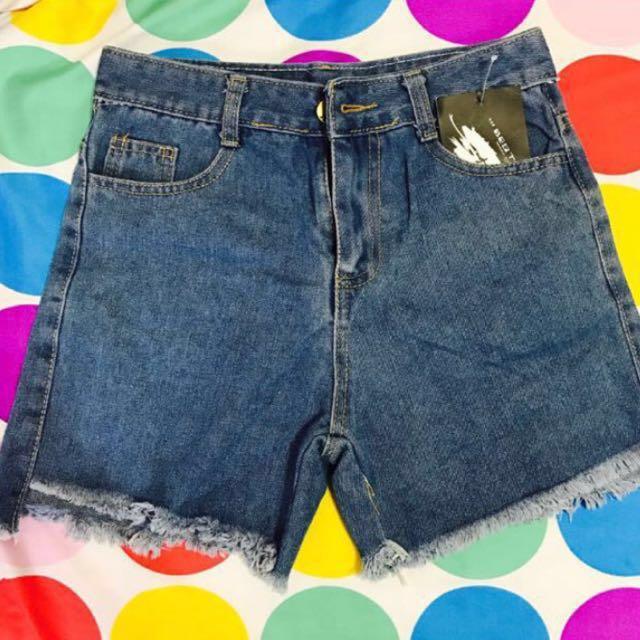 全新抽鬚牛仔短褲 #我的女裝可超取