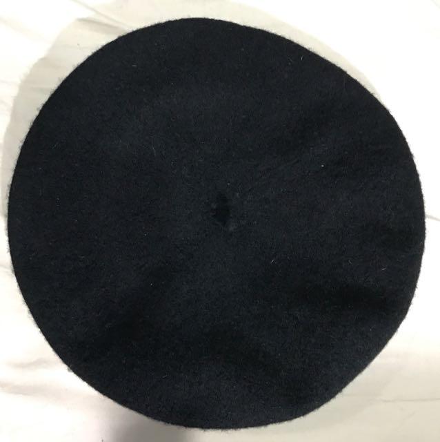 日本品牌 二手黑色貝蕾帽 畫家帽