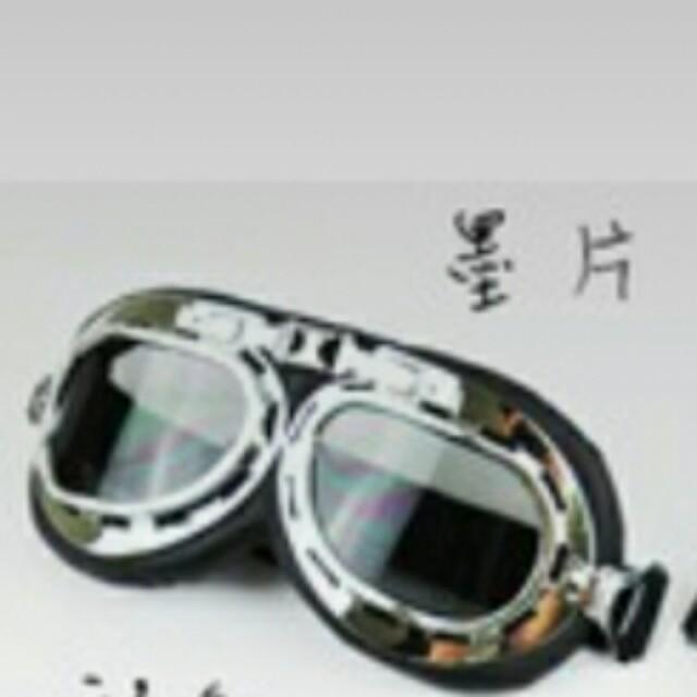 安全帽護目鏡 防風鏡 復古風鏡 雷朋