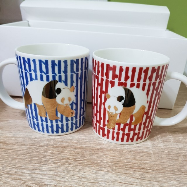 只是 ZHSHI Art 熊貓對杯