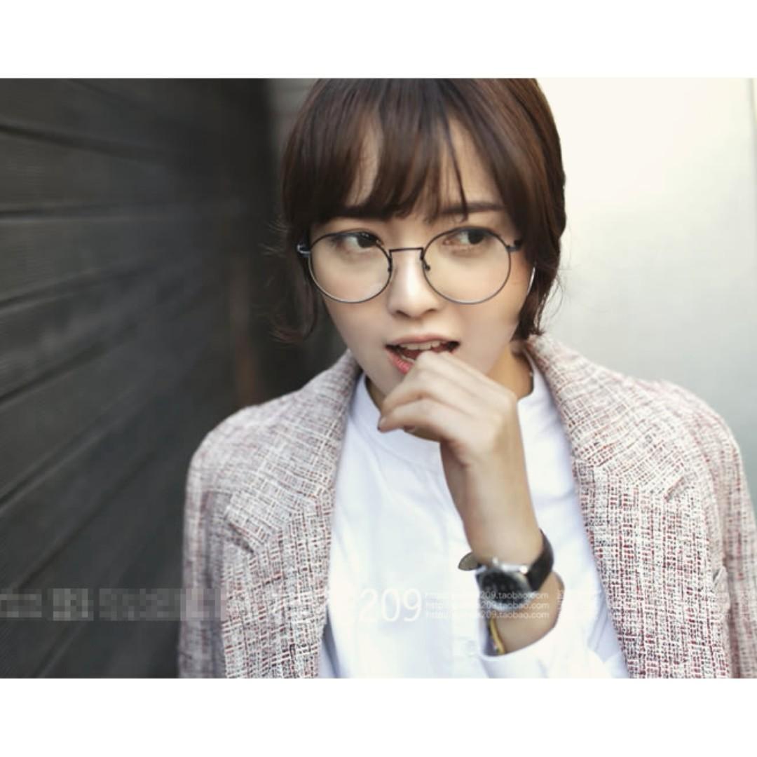 <現貨中>A07-韓版學院造型 復古風穿戴 圓形金属眼鏡 文藝風 百搭 韓妞必買 時尚