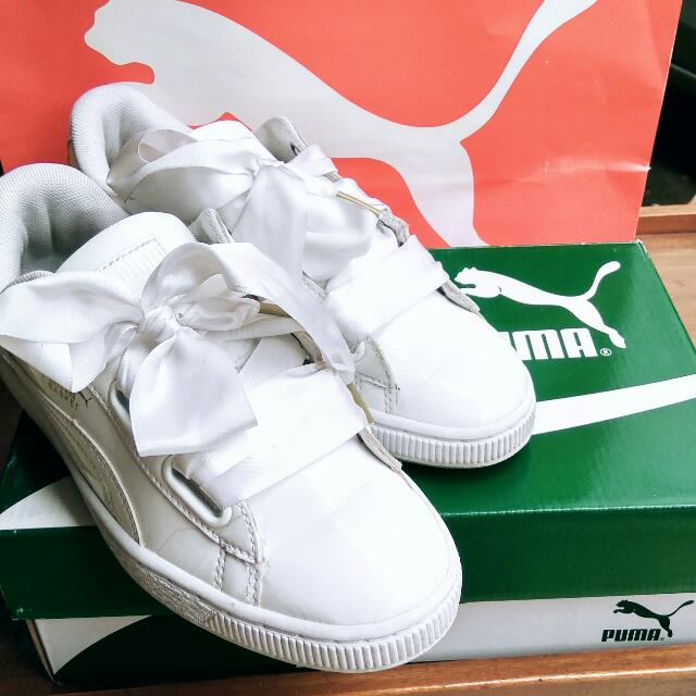Authentic Puma Basket heart Patent