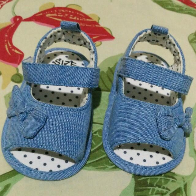 Baby shoes PreWalker sepatu sandal bayi denim