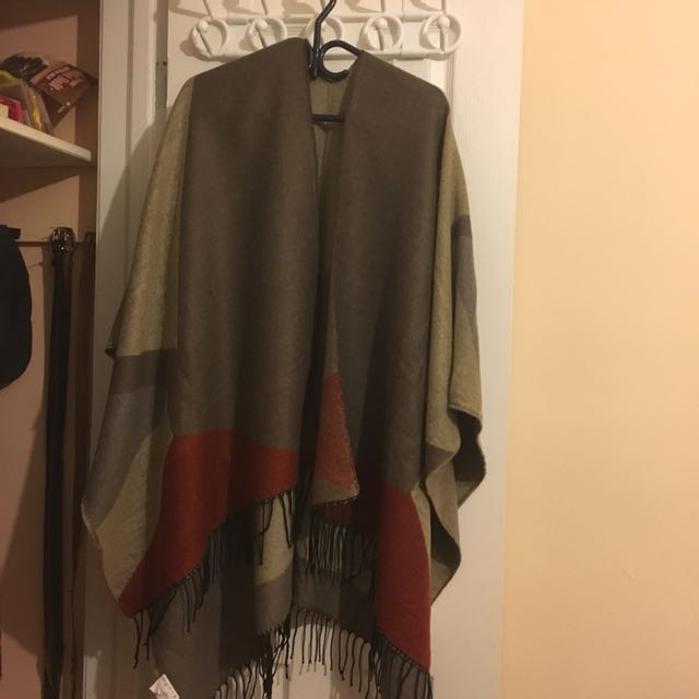 Beautiful poncho scarf