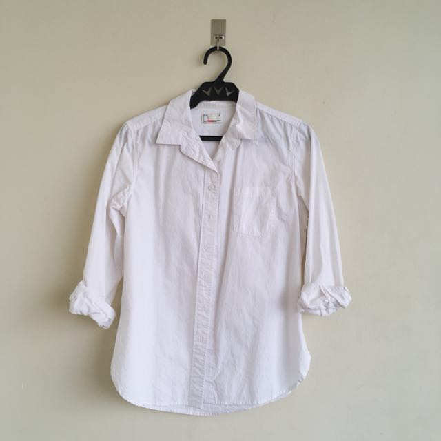 Bench white long sleeves polo