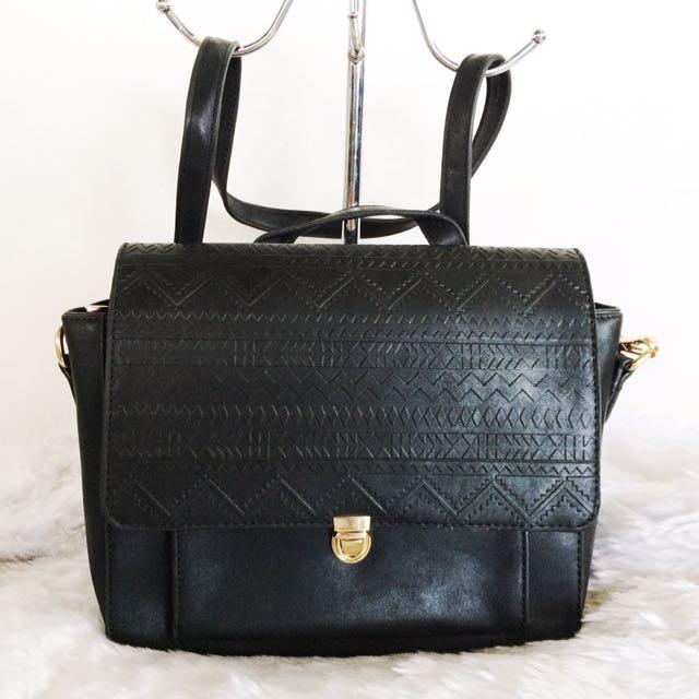 Black Aztec Sling Bag