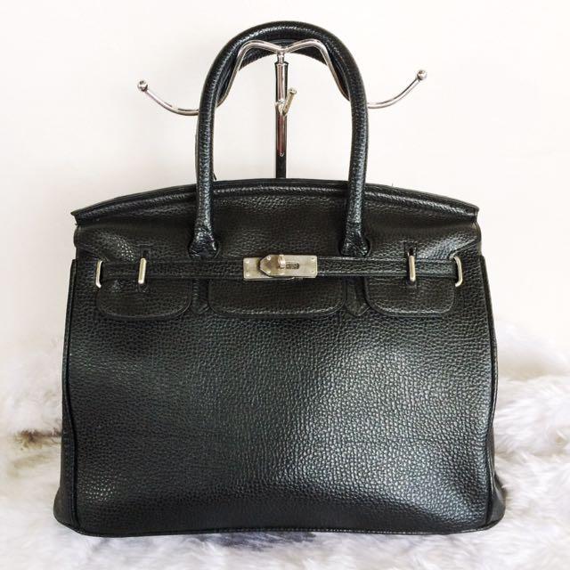 Black Birkin Inspired Handbag
