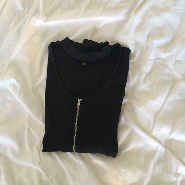 Black choker bodysuit