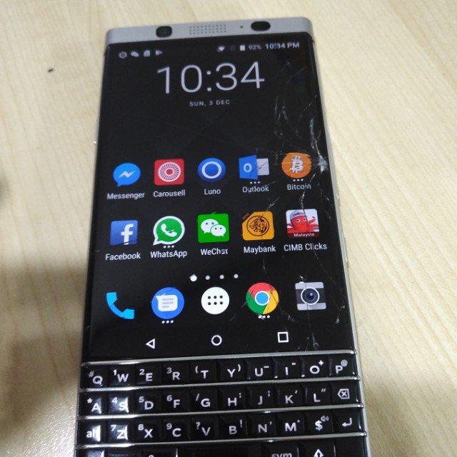 Blackberry Keyone Brightstar Unit Handphone Only Screen Crack