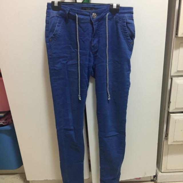 Blue chinos pants