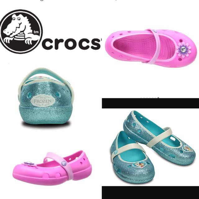 509fe6abe2ae BN Crocs Keeley Frozen And Magenta Flats Little Girl Size C6 Brand ...