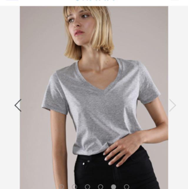 BN Grana Pima V-neck T-shirt