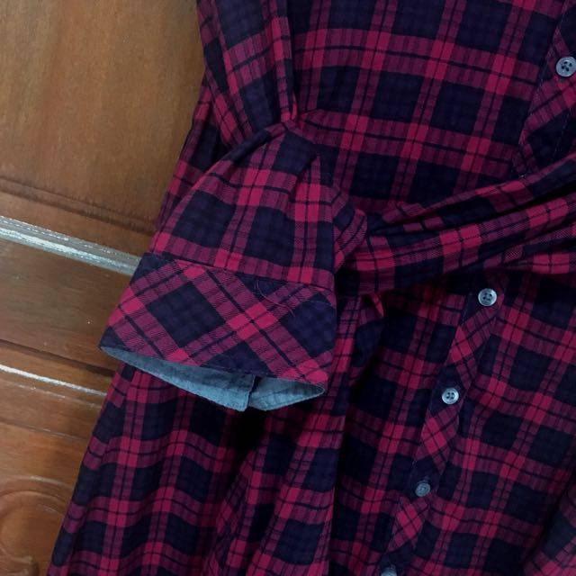 BNY Jeans Plaid Red Flannel