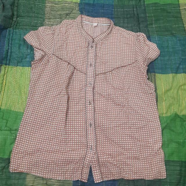 Brown Polka Shirt
