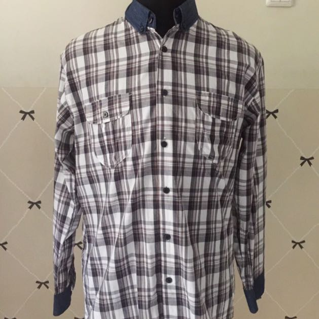 Checkered Shirt With Denim