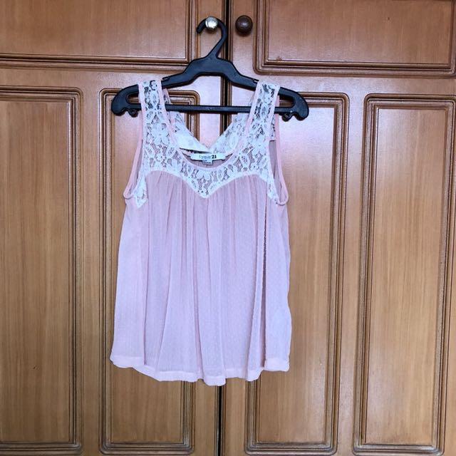 Chiffon Forever 21 Pink Sleeveless Top