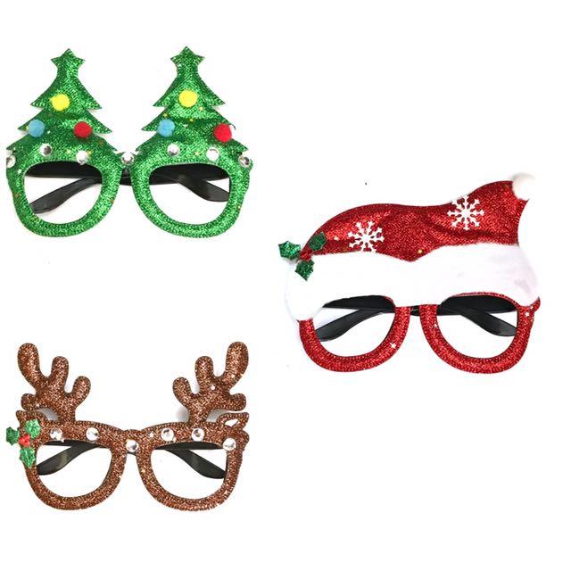 Christmas Glasses Foam Glitter