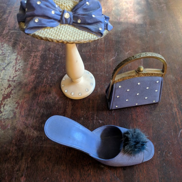 Classic couture collection hat purse shoe