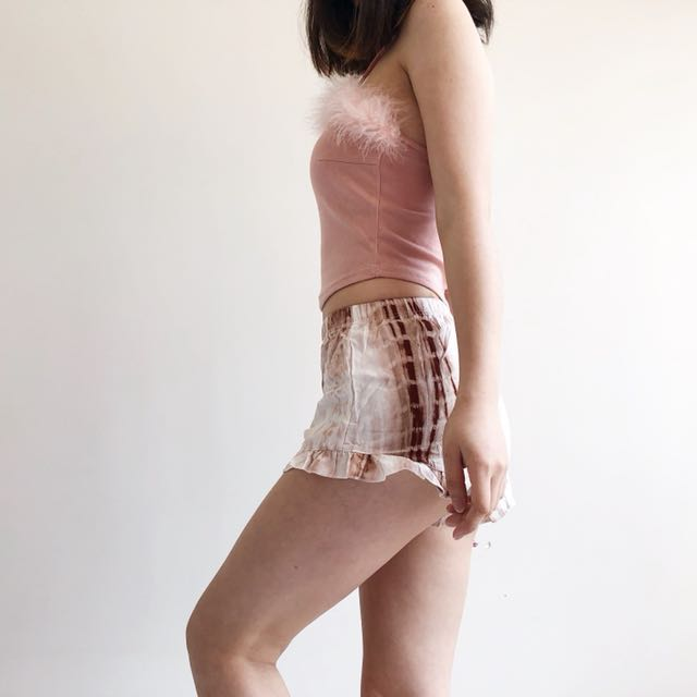 Coffee marble shorts