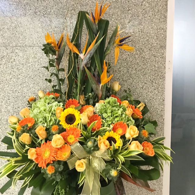 Congrats flowers ( box stand )