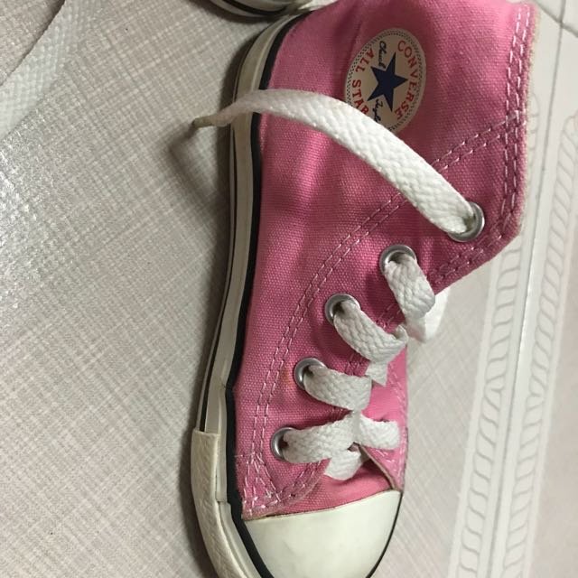 b4c3e375621c Converse Shoes - girls. Pink. High cut. Preloved. Size US 8