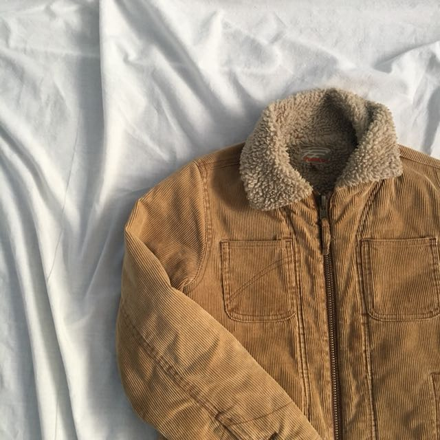 corduroy sherpa lined jacket