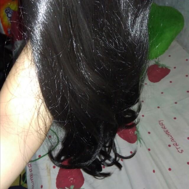 Curly hairclip black