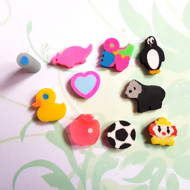 Cute Assorted Mini Collectable Erasers