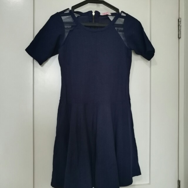 Dark Blue Cotton Dress