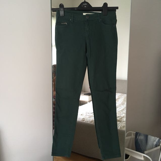 Dark green forever 21 skinny jeans pants