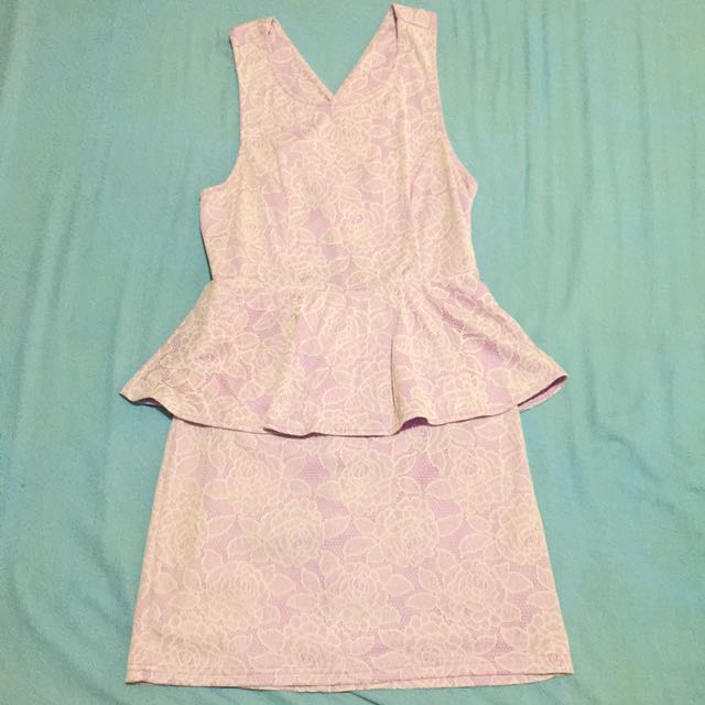 Dotti Lavender Peplum Dress