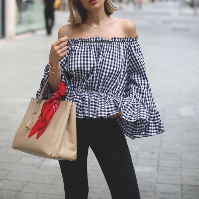 Dream House Gingham Top | Size 6