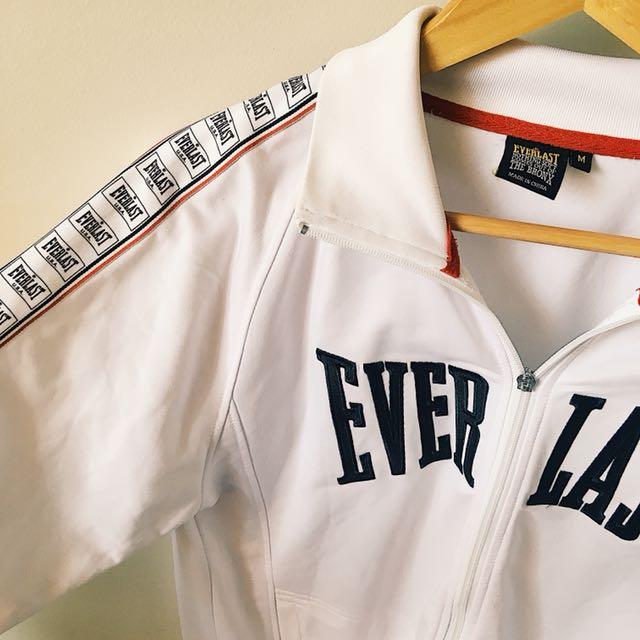everlast zip up athletic jacket, men's medium
