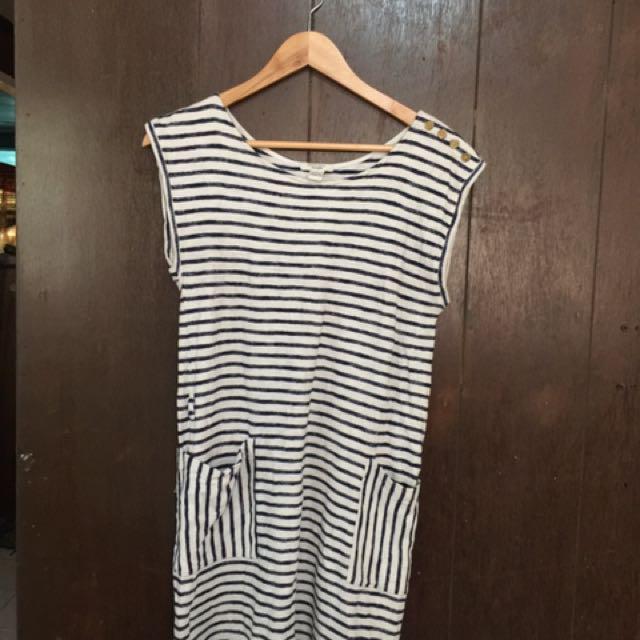 F21 dress stripes