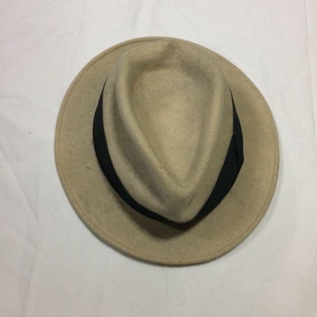 Fedora Hat (Felt, Dirty White)