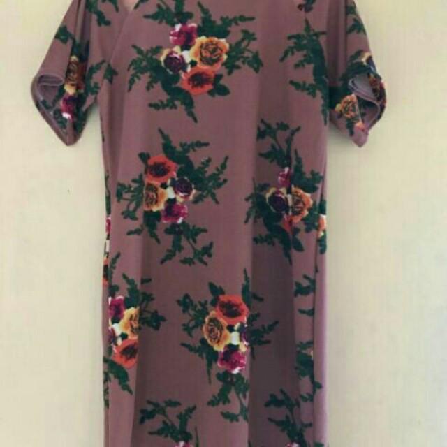 floral open shoulder dress