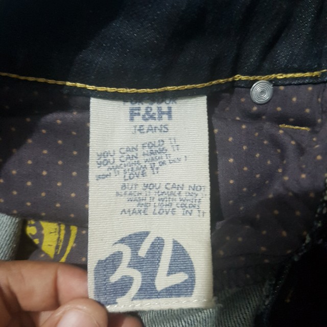 Folded n hung denim pants