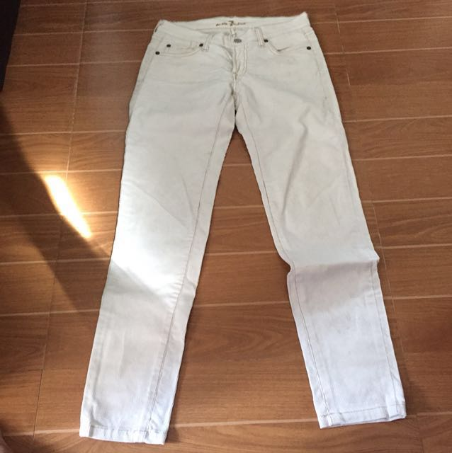 For All Mankind White Pants