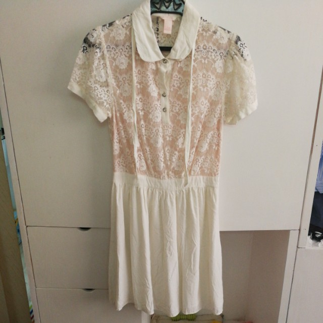 Forever 21 F21 white lace dress